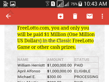 FreeLotto Sweepstakes review 158260