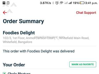 Zomato - No investigation for non delivery of the food