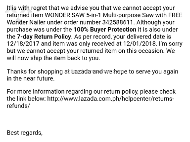 Lazada Philippines Shipping Service review 257982