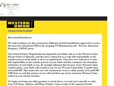 Western Union - Review the attached