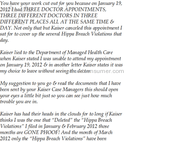 Kaiser Permanente Hospitals, Clinics and Medical Centers, Doctors review 104221