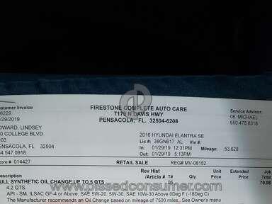 Firestone Complete Auto Care Oil Change review 366478