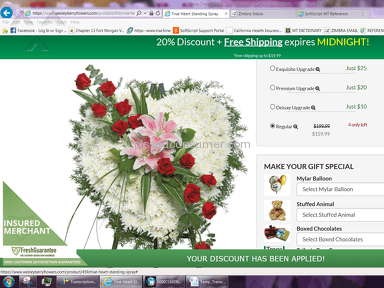 Wesley Berry Flowers - MAJOR RIP-OFF!!! COMPANY WON'T RESPOND TO E-MAILS!!!