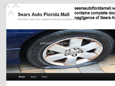 Sears Auto Center Florida Mall LOSES our keys & TIRE GOES FLAT!