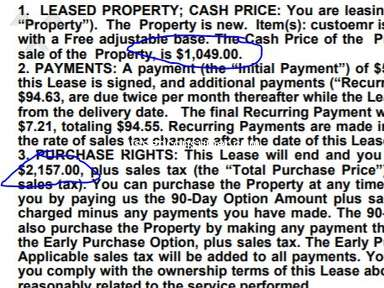 Mattress Firm - Sales person on chat lied about cost of lease to own pymt option