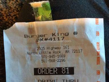 Burger King -  Soggy bun  burned chicken