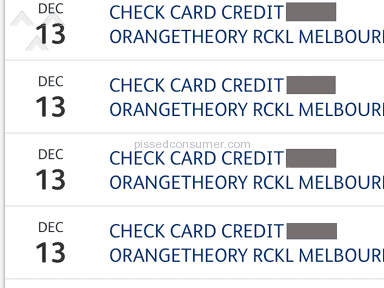 Orangetheory Fitness - Overcharged 4 time in one month. Thats $1,908