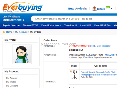Everbuying - Service has been improved over the year