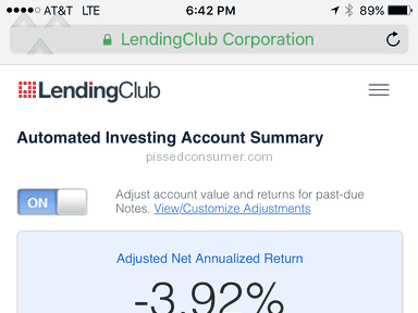 Lending Club Investment Service review 152986