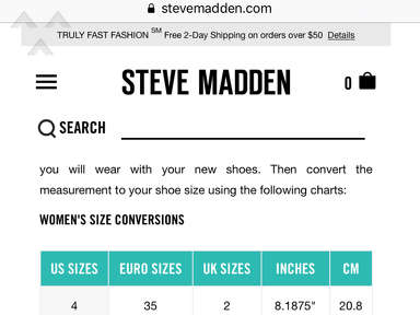 Steve Madden - Disappointing customer service