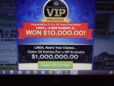 Publishers Clearing House - False Prize Announcement