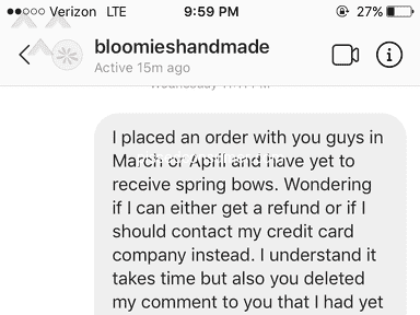 Bloomies Handmade - Please do not order