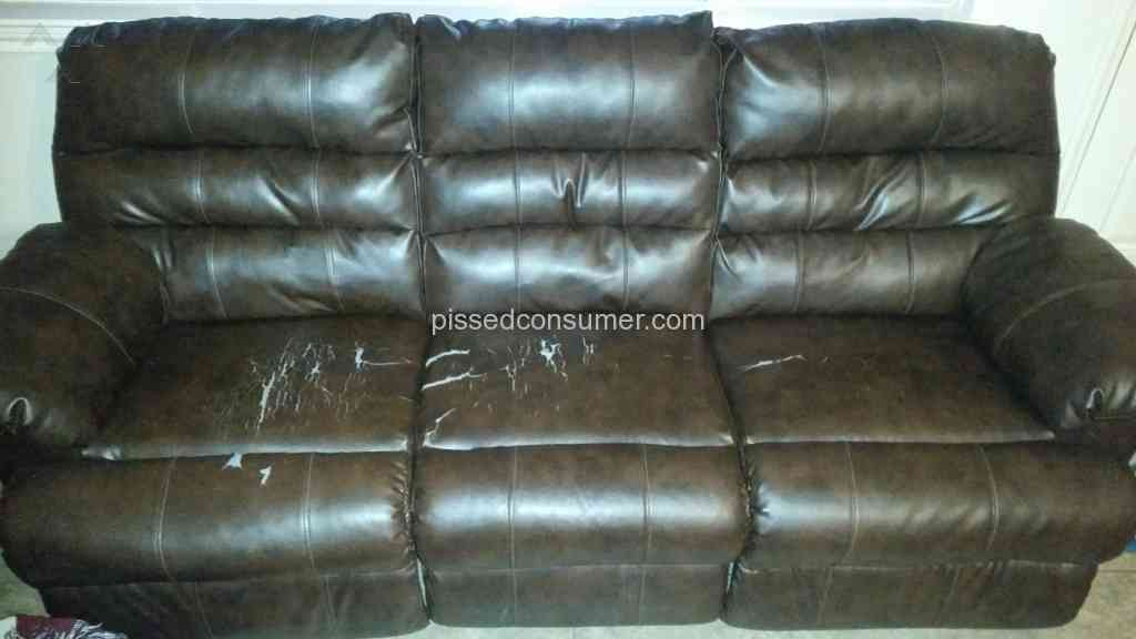 Ashley Furniture Durablend Bonded Leather Reclining Sofa
