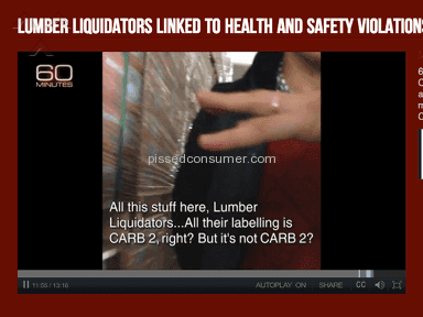 Lumber Liquidators - Bait and switch practice