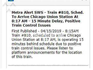 Proof That Metra Lies to Riders