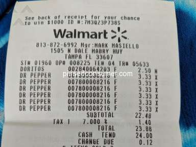 Dr Pepper - Dr. Pepper Scam, did not honor receipt from store
