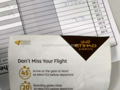 Etihad Airways - Lost luggage. No response from baggage dept.