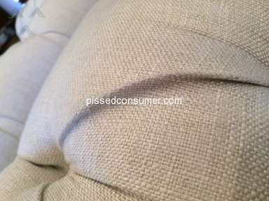Pottery Barn - Poorly made sofas