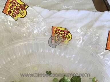 El Pollo Loco - Rotten lettuce in salad.