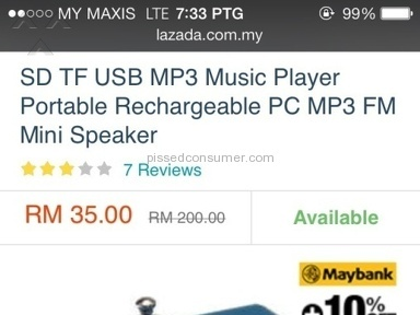 Lazada Malaysia Pc Mp3 Speaker review 128151