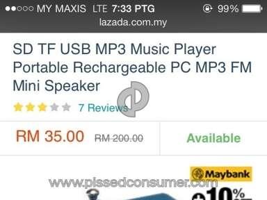Lazada Malaysia Speaker review 128151
