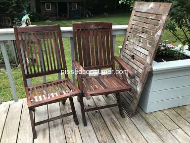 Minwax - Helmsman Teak Oil used as directed ruined our teak furniture