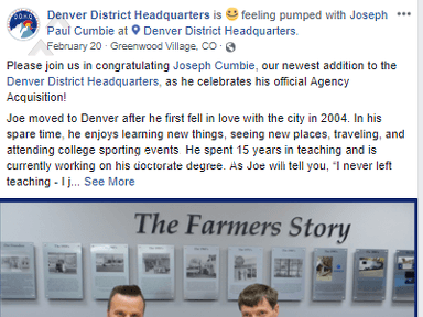 Farmers Insurance Denver District Headquarts District 15 - Jared Seyl will break any law for a profit. ROI vs Ethics. ROI wins.