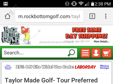 Rock Bottom Golf - Taylormade Wedge Golf Club Review from Bakersfield, California