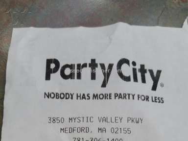 Party City - Manager Review from Cambridge, Massachusetts
