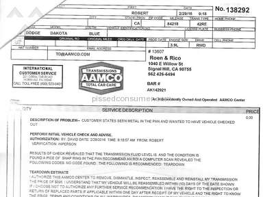 Aamco Service Centers and Repairs review 119571