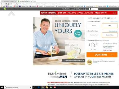 Nutrisystem - A hidden Charge of $125