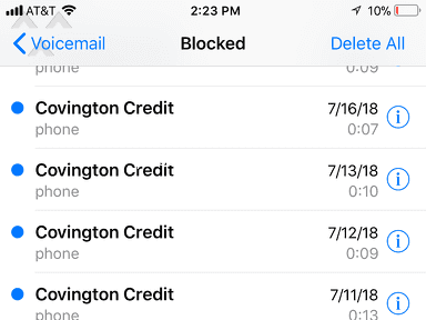 Covington Credit - THEY WILL CALL YOU EVERYDAY