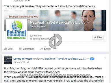 National Travel Associates Customer Care review 148454