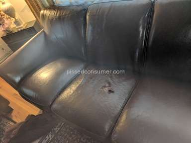 Raymour and Flanigan - Raymour & Flanigan - Inferior Quality Leather Sofa - Rips, Cracks, Poor Serivce
