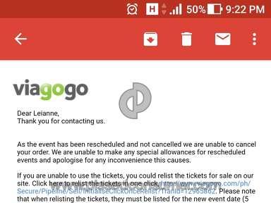Viagogo Ed Sheeran Concert Ticket review 236128