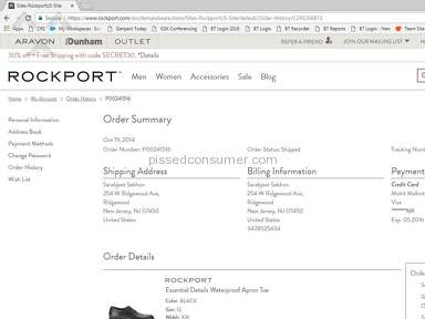 Rockport Customer Care review 231632