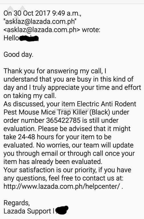 Resolved: Lazada Philippines - Lazada Customer care is the