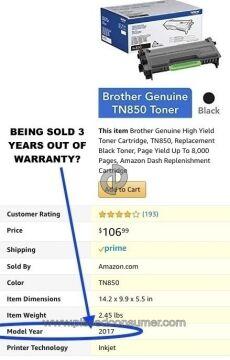 Brother Tn 850 Toner Cartridge