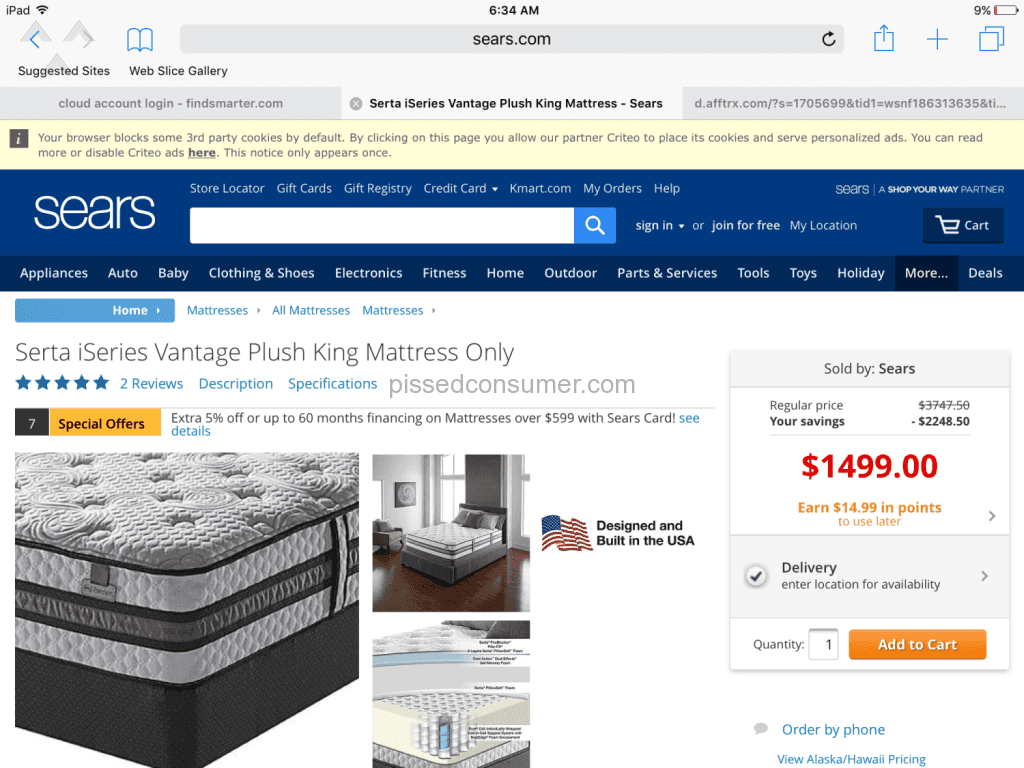 sears sears misled us regarding mattress sale will not fix issue 20151024722714 2841 gallery png