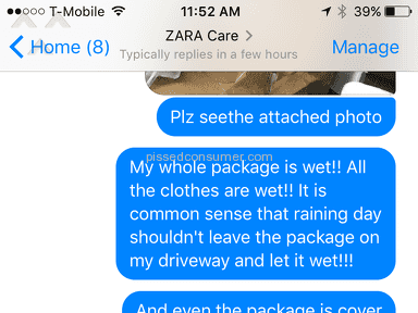 Zara Customer Care review 186928