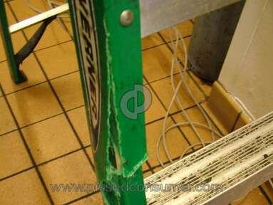 Werner Ladder Faulty made ladder causing injury to back