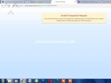 Dfa Passport Appointment System - Pay now button appeared then system will turns failure