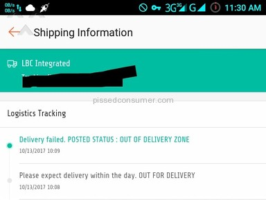Lbc Express - Delivery failed