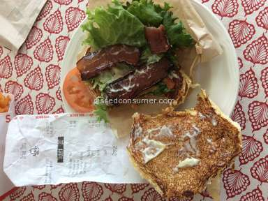 Arbys Triple Thick Brown Sugar Bacon Blt Sandwich review 223022