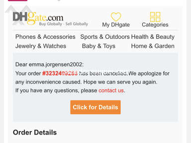 DHgate Customer Care review 720279