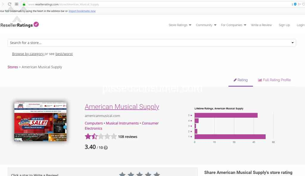 79 American Musical Supply Reviews and Complaints @ Pissed Consumer