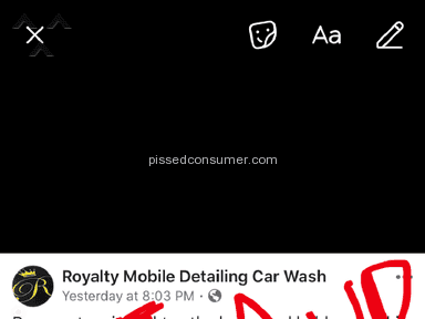 Royalty Mobile Detailing Car Wash - PJ Abbott is a con Artist