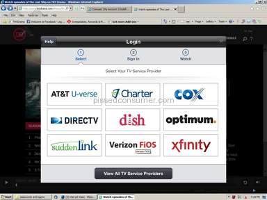 Xfinity blocking access to TV websites, demanding you subscribe to THEIR tv service