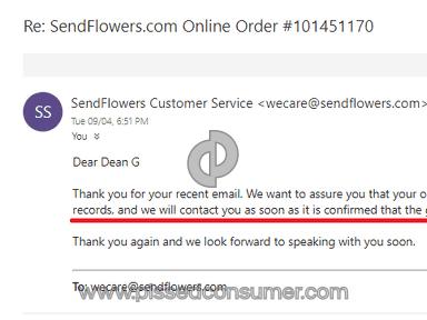 Sendflowers Flowers review 327394