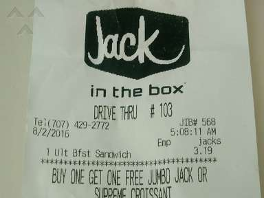 Jack In The Box - Ultimate Breakfast Sand.